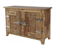SIT-Möbel 2507-01 Frigo - Armario para debajo del lavabo (madera de mango, con asas de frigorífico, 67 x 30 x 60 cm, barnizado)