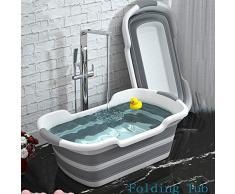 1 UNID Bañera Plegable Portátil Baby Shower Capacidad de Silicona Portátil Lavado Almacenamiento Antideslizante Tinas de Baño para Perros Bañera para Pies Bañera de Hidromasaje,1