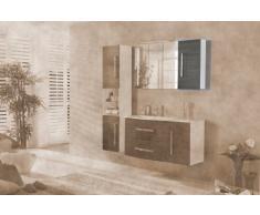35 x 68 cm Armario Lugano/como color (frontal): pino Antracita, Color (estructura): Blanco Brillante, orientación: Puerta Bisagra Derecho