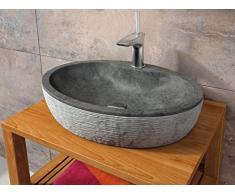 Bathco - Lavabo Bathco Sobre Encimera Piedra Santorini 55 Negro 550X400X120