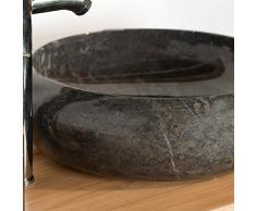 Lavabo encimera de mármol cuarto de baño VENECIA negro 40 cm