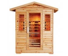 Sauna de exterior infrarosso Full Optional para 4 personas
