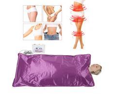 Infrarrojo lejano Sauna Manta de Calentamiento para Aliviar Fatiga fisica Máquina de terapia de desintoxicación para el cuerpo Shaper Adelgaza Fitness Adelgaza Sudor(EU)