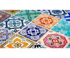 Adhesivos para pared (32 unidades, diseño de azulejos, autoadhesivos, para decorar la cocina, estilo español), 15 x 15 cm