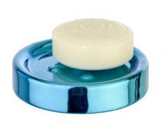 Wenko 21324100 Polaris - Jabonera (11 x 11 x 2,8 cm), color azul metalizado