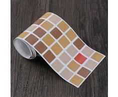 BESTONZON Las baldosas de mosaico auto adhesivas extraíbles impermeables anti-molde de la pared de la cáscara y del palillo para la decoración del cuarto de baño de la cocina