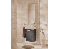 Baño-WC lavabo mueble para fregadero de color (front): pino antracita, color (estructura): pino Antracita