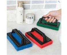 itemer 2 pcs multifunción esponja de limpieza Cepillos para cocina fregadero bañera ventana azulejos de cerámica casa limpieza de herramientas con mango (color al azar)
