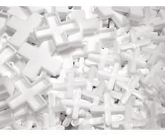 NFT 4 mm separadores para azulejos (plástico bañera; Bulk Tub aprox 1800 pcs código; CR 40-bk