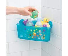 InterDesign Bubblz esquinero de ducha con ventosas de Lock cesta, Aqua