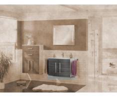 Lavabo mueble para fregadero de Lugano/Como color (estructura): blanco brillante, color (front): pino Antracita