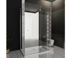 U de cabina de ducha 80 x 140 x 195/U forma de ducha incluye los arañazos de vidrio/Easy Clean Cabina De Ducha (Cristal de 6 mm//Mampara