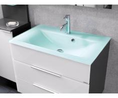 Fackelmann 86296 Cristal lavabo 80 x 50 x 14,5 cm - Extravagant, elegante, amplias, color verde