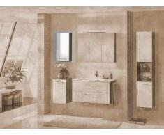 FACKELMANN armario Vadea, pino color antracita/blanco brillante tope de la izquierda