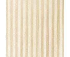 Maurer 4042440 - cortina ducha tela rayas beige 180x200