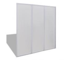 vidaXL Pantalla de Ducha Bañera Pared de Ducha Pantalla de Vapor 141 x 132 cm 3 Paneles Plegables