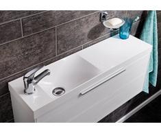 Fackelmann Diseño fundido lavabo scera Blanco/izquierda y derecha einsetzber/80 cm de ancho