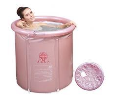 La ducha y bañera plegable para adultos piscina infantil hinchable bañera y cabina de ducha en casa, Rosa ,75*80cm.