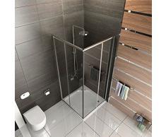 Cabina de ducha Cristal/Mampara con marco/cabina de ducha aprox. 90 x 90 x 190 cm/Ducha/einscheibensicherheitsglas/altura de la Mampara aprox. 190 cm/Ducha Sin cristal los arañazos