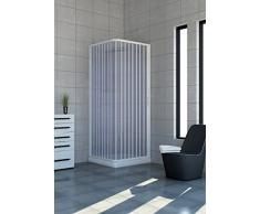 Cabina de ducha de PVC extensible con dos lados dos puertas lado 70/80