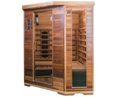SaunaMed Sauna para 4 a 6 personas, de lujo, de cedro, infrarrojos, EMR, NeutralTM