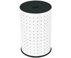 Hailo 0744-321 - Cubo para la ropa sucia, 43 L, color blanco y negro