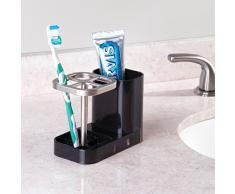 mDesign Porta cepillo de dientes – Soporte para cepillo de dientes y pasta  de dientes – fcff0ab2749a