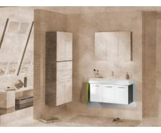 Lavabo Armario vadea (frontal): Color Blanco, color (estructura): pino de antracita