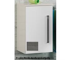 35,5 x 59 cm Armario Color (frontal): pino Antracita, Color (estructura): Blanco Brillante