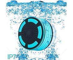 ParaCity ducha altavoz, IP67 resistente al agua portátil inalámbrico Bluetooth 4.0 altavoces con Super Bass Sonido HD y respiración luz LED para piscina playa baño barco Sauna o spa