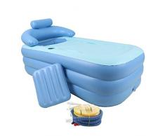 Piscina inflable plegable íntima de los niños inflables calientes calientes de la bañera de Dick para adultos, azul