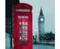 Adorno Hogar Cortina de Ducha Tela Poliéster Impermeable Teléfono Grande Diseño Cabina
