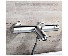 Lookshop ®-Grifo monomando para bañera y ducha con mango circular