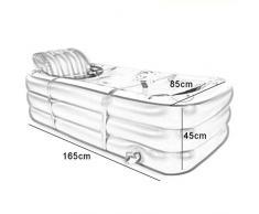 JGWJJ Tina de baño Inflable Bañera de PVC portátil SPA Tinas portátiles para Uso Ambiental para Adultos Bañera de baño portátil Bañera de hidromasaje SPA para un Adulto Azul