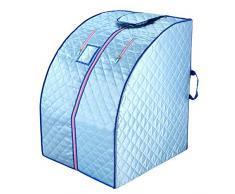 ZFF Portátil Infrarrojo Lejano Sauna De Vapor Plegable Calor Cabina con Placas Calefactoras, Casa Personal SPA para Perder Peso & Eliminar La Toxina (Color : Blue)
