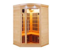 Sauna infrarrojo de esquina apollon 2-3 personas APOLLON2C