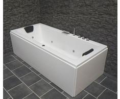 Whirlpool bañeraesa veneciacity pantalla derecha o izquierda/150/170 x 75 cm con 6 160 relaxroll + con accesorios bañera de esquina misjetsapuntando jacuzzi SPA Ronda bañera de esquina izquierda/derecha más dentro de