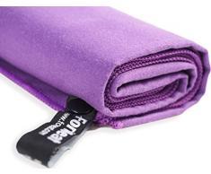ForNeat Toalla de microfibra para el recorrido, playa, baño, Camping, Gimnasio, ultra compacto de secado rápido Toallas (Púrpura, 54cmx120cm 1 pc)