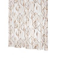 Ridder 326180-350 Leaves - Cortina de ducha (180 x 200 cm, incluye enganches), diseño de hojas