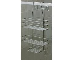 Norwood Satina - Estantería de ducha para colgar (55 x 30 cm, cromada)