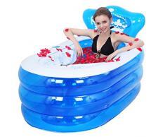 Inflable bañera engrosada bañera de adultos plegable, bañera barril del baño de los niños, bañera de plástico. ( Tamaño : S )