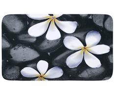 WENKO 20950100 Esterilla baño Bloom - alfombra baño, Poliéster, Multicolor