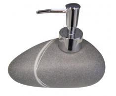 Ridder 229901070-350 - Juego de accesorios para baño, escobilla, dispensador de jabón y recipiente, color gris