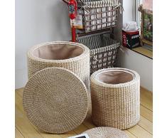 Madera maciza para los zapatos Taburete / taburete del almacenaje Taburete libre de la instalación / taburete de la almohadilla del sofá pequeño / taburete de la prueba de la manera / taburete tejida a mano / taburete simple