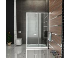 Cabina de ducha con puerta corredera/EchtGlas Mampara/Alpen Berger/cabina de ducha aprox. 120 x 80 x 190 cm/Ducha Con Marco/ESG cabinas de ducha/altura de la cabina de ducha aprox. 190 cm