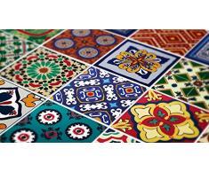 Decoración de la pared arte azulejos Talavera mexicana especial pegatinas (paquete con 48), 8 x 8 inches | 20 x 20 cm