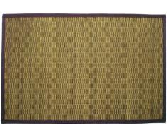 Gelco Design 703588 Bahia - Alfombrilla de baño (pequeñas láminas de bambú, 60 x 90 cm), color verde