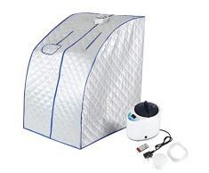 Portátil Sauna de Vapor SPA, 2 L Infrarrojos Sauna Calentador portátil Sauna Caja Interior Plegable Adelgaza la Máquina de la Aptitud para Una Persona para Desintoxicación(EU)