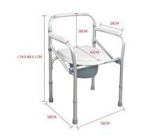 Hmhope Ajustable Plegable Silla WC CóModa Ligero Aluminio AleacióN Fijo Apoyabrazos Ancianos Embarazada Mujeres Producto