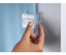 Kleine Wolke 0279000000 - Juego de Pinzas para Sujetar la Cortina de Ducha a la Pared (2 Unidades), Color Transparente